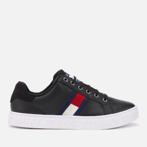 Tommy Jeans Women's Cool Warm Lined Leather Trainers - Black