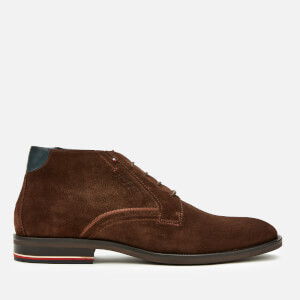 Tommy Hilfiger Men's Signature Hilfiger Suede Desert Boots - Coffee Bean