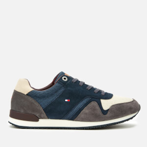 Tommy Hilfiger Men's Iconic Material Mix Runner Trainers - Midnight