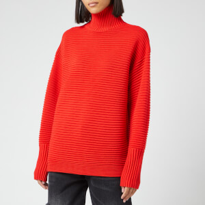 Victoria, Victoria Beckham Women's Curved Sleeve Turtleneck Jumper - Sunset