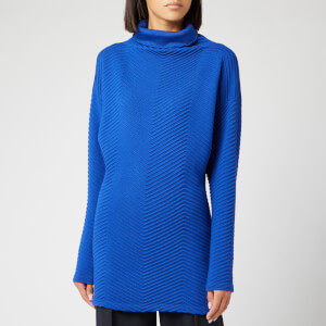Victoria, Victoria Beckham Women's Fitted Waist Turtleneck Jumper - Bright Blue
