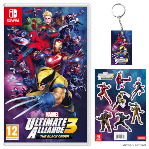 MARVEL ULTIMATE ALLIANCE 3: The Black Order + Keychain + Sticker Sheet