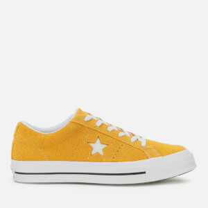 Converse Men's One Star Vintage Suede Ox Trainers - Gold Dart/White/Black