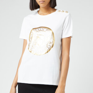 Balmain Women's Coin T-Shirt - White