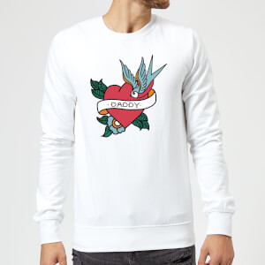 Daddy Heart Sweatshirt - White