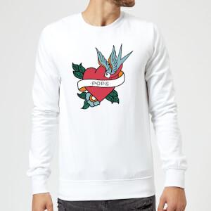Pops Heart Sweatshirt - White