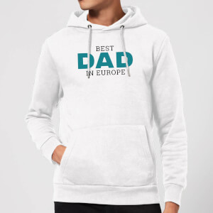 Best Dad In Europe Hoodie - White