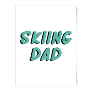 Skiing Dad Art Print