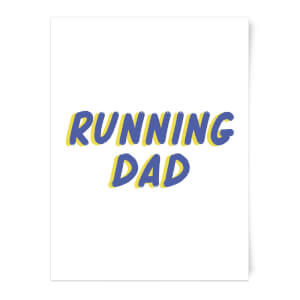 Running Dad Art Print