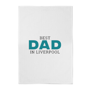 Best Dad In Liverpool Cotton Tea Towel