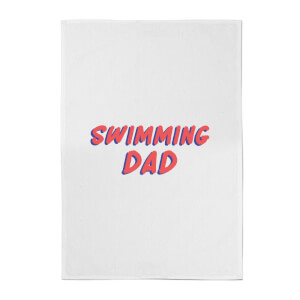 Swimming Dad Cotton Tea Towel