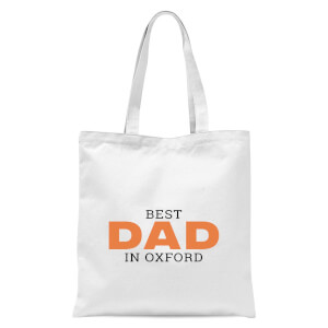 Best Dad In Oxford Tote Bag - White