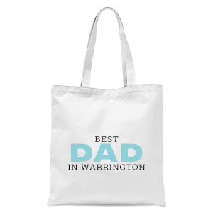 Best Dad In Warrington Tote Bag - White