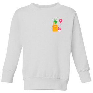 Monster Family Kids' Sweatshirt - White