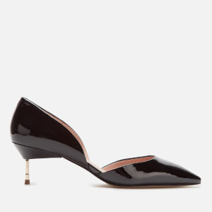 Kurt Geiger London Women's Bond 60 Patent Leather Kitten Heels - Black