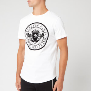 Balmain Men's Coin T-Shirt - Blanc/Noir