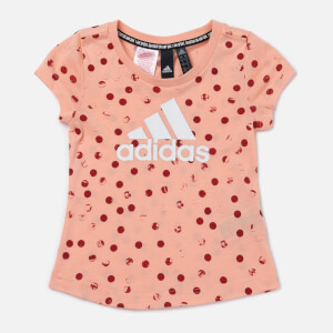 adidas Girls' Young Girls Graphic T-Shirt - Pink