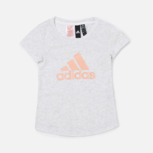 adidas Girls' Young Girls Winner T-Shirt - White