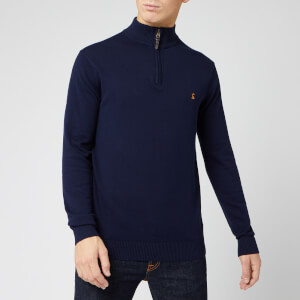 Joules Men's Hillside 1/4 Zip Sweatshirt - French Navy