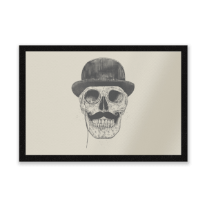 Monocle Skull Entrance Mat