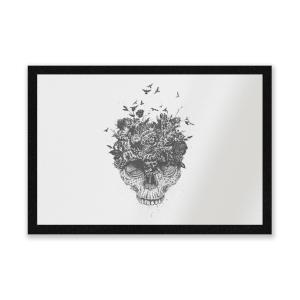 Skulls And Flowers Entrance Mat