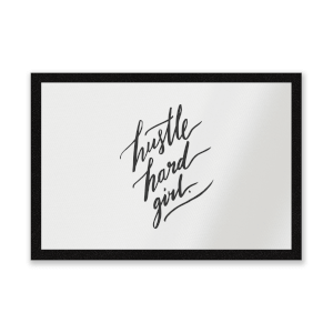 Hustle Hard Girl Entrance Mat