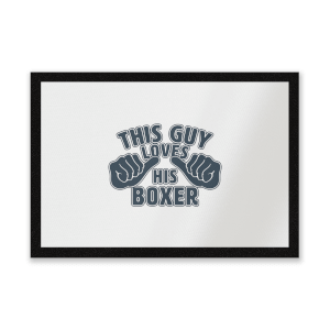 This Guy Loves His Boxer Entrance Mat
