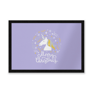 Unicorn Christmas Head Entrance Mat