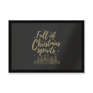 Full Of Christmas Spirits Entrance Mat