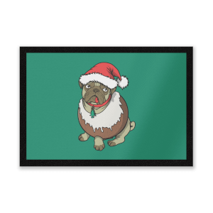 Christmas Puggin Entrance Mat