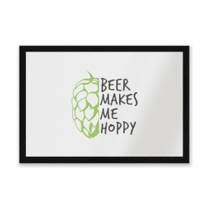 Beer Makes Me Hoppy Entrance Mat