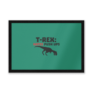 T-Rex Hates Pushups Entrance Mat