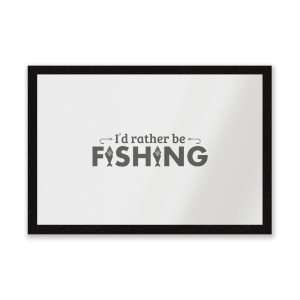 Id Rather Be Fishing Entrance Mat