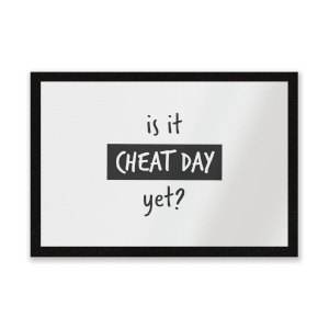 Is It Cheat Day Entrance Mat