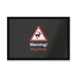 Warning Stag Party Entrance Mat