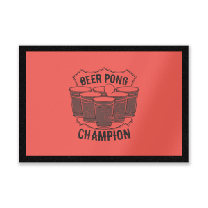 Beer Pong Champion Entrance Mat