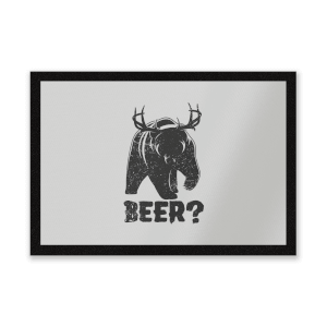 Beer Bear Deer Entrance Mat