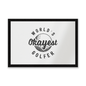World's Okayest Golfer Entrance Mat
