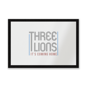 Three Lions It's Coming Home Entrance Mat
