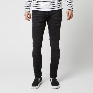 Nudie Jeans Men's Skinny Lin Skinny Jeans - Worn Black