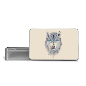 Wolf Eyes Metal Storage Tin