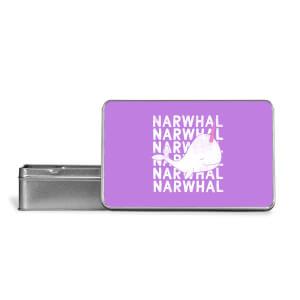 Narwhal Metal Storage Tin
