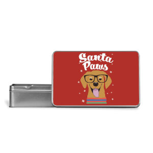 Santa Paws Metal Storage Tin