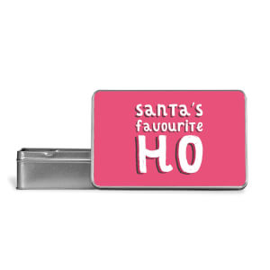 Santa's Favourite Ho Metal Storage Tin