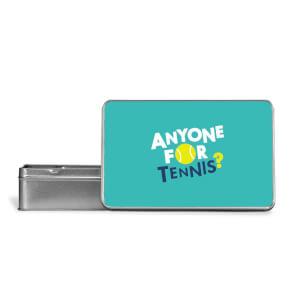 Anyone For Tennis Metal Storage Tin