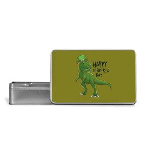 Happy St Pat-Rex Metal Storage Tin