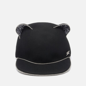 Karl Lagerfeld Women's Choupette Ears Zip Cap - Black
