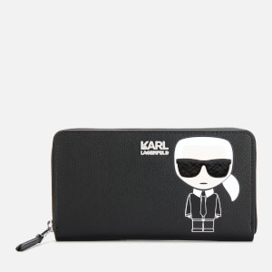 Karl Lagerfeld Women's K/Ikonik Zip Wallet - Black