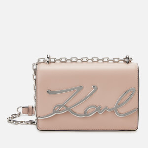 Karl Lagerfeld Women's K/Signature Small Shoulder Bag - Powder Pink