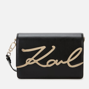 Karl Lagerfeld Women's K/Signature Shoulder Bag - Black/Gold